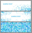 Abstract pixel square mosaic banner template set vector image vector image