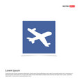 aeroplane icon - blue photo frame vector image
