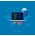 Application software developer program code and vector image