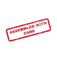 Assembled With Care Text Rubber Stamp vector image vector image