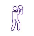 basketball shot sport outline figure symbol vector image