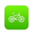 bike icon digital green vector image vector image