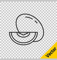 black line melon fruit icon isolated on vector image vector image