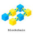 blockchain icon isometric style vector image