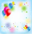 blur happy birthday banner vector image vector image