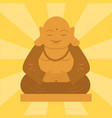 budda statue from thailand harmony budha culture vector image vector image