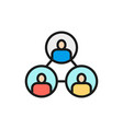 business community teamwork connection vector image