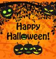 cartoon halloween natural template vector image vector image