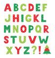 christmas cartoon alphabet isolated design vector image
