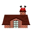 christmas house isolated icon vector image
