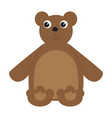 colored teddy bear toy icon vector image vector image