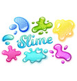 colorful glitter slime blobs vector image