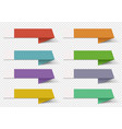 colorful infographic banner template ribbon vector image