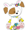 cute puppy Easter vector image vector image