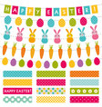 Easter set decoration and washi tapes vector image vector image