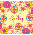 Figure spring flowers colorful background vector image