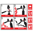 fire fighting technical silhouette fire vector image vector image
