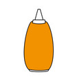flat line sauce design vector image