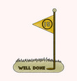 flat shading style icon golf course well done vector image vector image