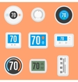 Flat thermostats set vector image