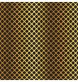 Golden black metallic diagonal grid background vector image