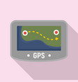 gps device icon flat style vector image vector image