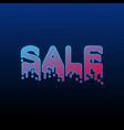 gradient sale neon poster vector image vector image
