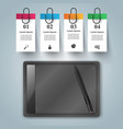 graphic tablet - business infographic vector image