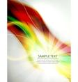 Green shiny orange blur wave background vector image vector image