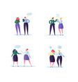 group of business characters chatting office vector image
