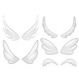 hand drawn angel fairy or bird wings set vector image vector image