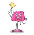 have an idea furniture lamp character cartoon vector image