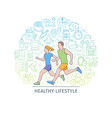 healthy lifestyle banner3 vector image vector image