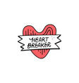 heart breaker sticker vector image vector image