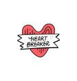 heart breaker sticker vector image