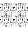 heart in circuit board vector image vector image