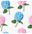 Hydrangea flower seamless vector image vector image