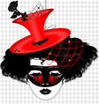 Image of an dame in carnival mask vector | Price: 1 Credit (USD $1)