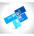 Infographic design template with paper tags I vector image vector image
