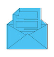 letter on mail vector image