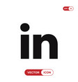 linkedin logo icon social media symbol vector image