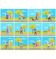 man and woman in park leisure in city vector image vector image