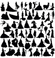 many silhouettes brides vector image vector image
