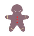 merry christmas gingerbread man biscuit decoration vector image