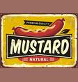 mustard promotional retro label design vector image
