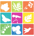 nature silhouette set vector image vector image