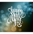 New Year Handwritten Typography over blurred vector image vector image