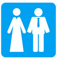 newlyweds rounded square icon vector image vector image