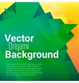 Origami polygonal abstract background vector image vector image