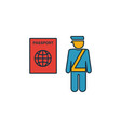 passport control icon outline filled creative